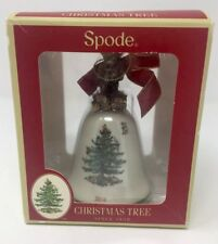 Spode Christmas Tree Bell Ornament 2014 Bear Holiday In Box