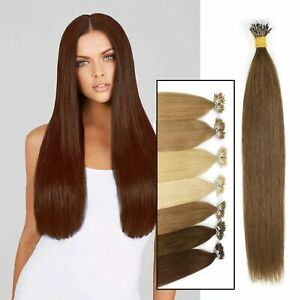 Elegant 1g Nano Ring Tip woman hair Deluxe Traceless Human Hair Extensions