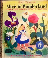 DISNEY'S ALICE IN WONDERLAND FINDS THE GARDEN ~Vintage Little Golden Book 1st Ed