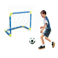 Portable Inflatable Football Soccer Goal Post Net Set Kids Outdoor Game Toy Gift