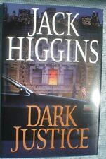 DARK JUSTICE Jack Higgins 1st Edition 2004 Espionage Hardcover & Dust Jacket