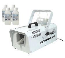 FXLAB tempête de neige Maxi Machine Liquide 1200 W haute puissance DISCO Télécommande & 4 x 250 ml