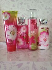 Bath & Body Works CHERRY BLOSSOM set NEW HUGE 4 pc LOT FREE ship
