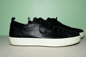 ECCO Soft 7 Leather Sneakers Flats Women 39/ US 8