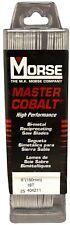 "MORSE Master Cobalt Reciprocating Saw Blades 6"" x 1"" x .042  18 TPI  (25 Pack)"