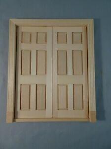 VTG Houseworks Wood Double Entry 6 Panel Interior Door 1:12 Miniature Dollhouse