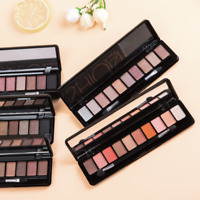 10Colors Makeup Matte Eye Shadow Powder Shimmer Eyeshadow Cosmetic Brush Palette