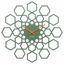 Karlsson Sunshine Hexagon Design Modern Office Wall Clock 48cm Green