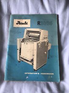 Rotaprint R30/90 Operators Handbook