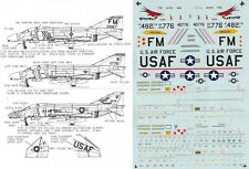 MICROSCALE DECALS 1/72 F-4C Phantom II 482nd TFW AFRES 123rd FIS OR ANG (USAF)