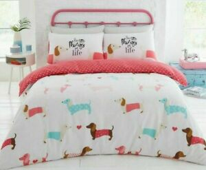 DACHSHUND ~  SAUSAGE DOG  Double / Queen  Quilt Cover,  Pink