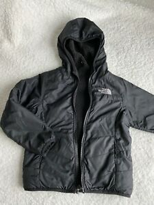 Kids North Face black reversible jacket size y6