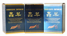 3 Bottiglie di Cordyceps Sinensis 30 Capsule Chong Cao Jiao Nang migliorare l'energia