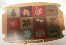 Longaberger Woodcrafts 2002 Christmas Traditions Basket Patchwork Lid Only - r4c