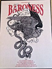 Baroness Mini-Concert Poster Reprint 2013 North American Tour 14x10 Unsigned