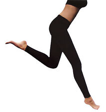 BRUBAKER Twinpack Womens Thermo Leggings Thermal Underwear Black One Size XS - L