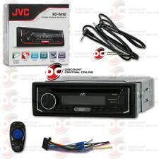 JVC KD-R490 SINGLE DIN CAR AUDIO STEREO CD USB MP3 RECEIVER FREE 3.5mm AUX CABLE
