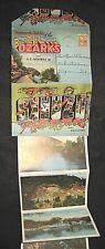 Vintage 1965 Postcards Souvenir Folder of the Missouri Ozarks & Hwy Route 66
