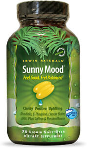 Sunny Mood by Irwin Naturals, 75 Gelcaps