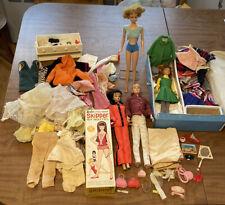 New ListingHuge Lot Vintage Barbie Dolls & Case Clothes Accessories Skipper Og Box Ken Look