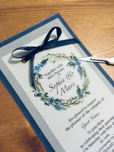 NEW layered Vellum wedding invitations! Fully personalised, any colour x 25