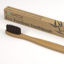 SOMATOX Bamboo Eco Toothbrush | Activated Charcoal Bristles - Premium Moso Bambo