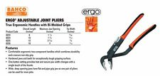 "Bahco Ergo® 16"" Adjustable Joint Pliers 3"" Max Jaw Opening Push Button #8226"