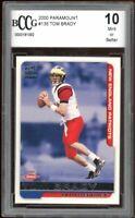2000 Paramount #138 Tom Brady Rookie Card BGS BCCG 10 Mint+