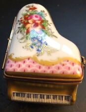 Limoges France Marque Deposee Rehausse Main Grand Piano Miniature 24K Gold