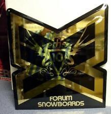 FORUM snowboards 2007 BIG embossed dealer display signage New Old Stock