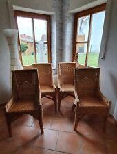 Küchenstühle 4er Set aus Rattan