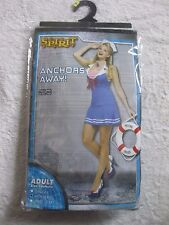 NEW Size MED 8-10 Anchors Away ADULT Sexy Sailor Halloween Costume Dress Cosplay