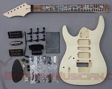 Bargain Musician - GK-027L - Left Hand DIY Unfinished Project Luthier Guitar Kit