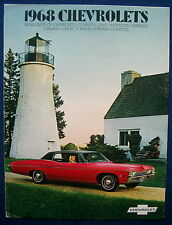 Prospectus brochure 1968 CHEVROLET CHEVY CHEVELLE * Camaro * CORVETTE (usa)