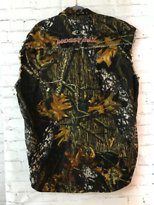 Mossy Oak Mens Multicolor Real Tree Western Cotton Sleeveless Shirts Size 2XL
