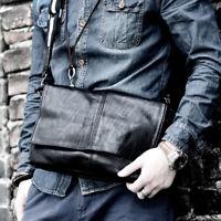 Men's Faux Leather Small Single Shoulder Bag Crossbody Messenger bag Hand Purse