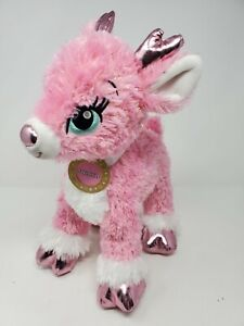 "Build-a-Bear 2017 Twinkle Deer Pink Sparkle 15"" Plush Reindeer Stuffed Animal"