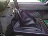 Peugeot 205 cuffia cambio  pelle nera cuciture verdi