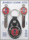 Red Ford GRANADA White Gold Deluxe Classic Key Set 1975 1976 1977 1978 -1982  for sale