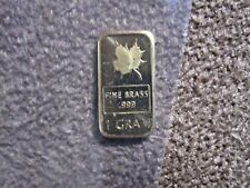 One Gram Pure Fine Brass Canadian Maple Leaf