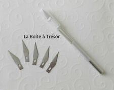 1 Scalpel + 5 Lames Cutter de Précision en Aluminium Résistant - Article Neuf