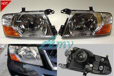 New Set L&R front head lamps lights For Mitsubishi Pajero Montero 2000-2006