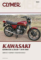 CLYMER REPAIR MANUAL Fits: Kawasaki ZX550 GPZ,KZ550F LTD M449 70-0449 27-M449