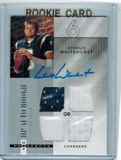 2006 HOT PROSPECTS CHARLIE WHITEHURST #222 ROOKIE AUTO QUAD JERSEY 244/999