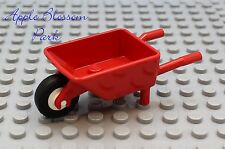 NEW Lego City Red Minifig Garden WHEEL BARROW -Minifigure Construction Tool