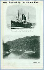 VISIT SCOTLAND BY THE ANCHOR LINE - STEAMSHIP COLUMBIA - POSTCARD - UNUSED