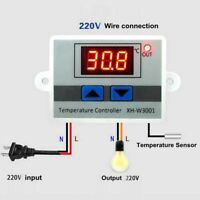 New Temperature Thermostat 10a Xh-w3001 Digital Led Probe With / 220v Control