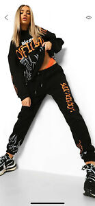 BOOHOO GRAFFITI HOODED TRACKSUIT NEW WITH TAGS SIZE M