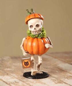 TD5040 Skull Pumpkin Costume Bethany Lowe Halloween Figure Fall Ghoul Spook