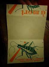 Ancienne Carte Dépliant Publicitaire Insecticide LE NECROPHORE contre les Poux